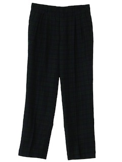 1980's Mens Totally 80s Pleated Wool Slacks Pants