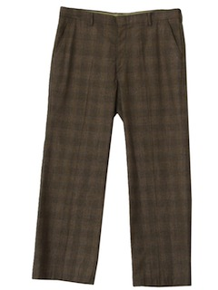 1970's Mens Plaid Disco Slacks Pants