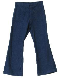 1970's Womens Denim Bellbottom Jeans Pants