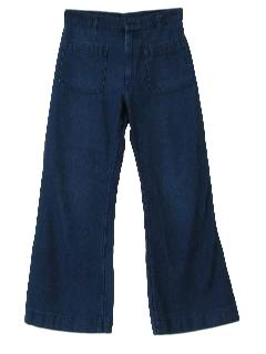 1970's Mens Denim Bellbottom Jeans Pants