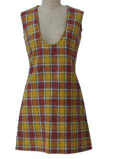 1960's Womens Mod Jumper Dress