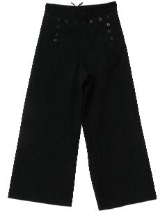 1970's Mens Wool Bellbottom Pants