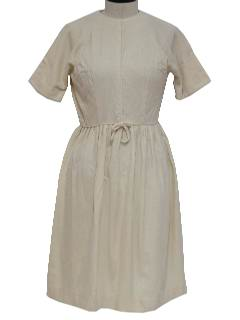 1950's Womens Wool Day Dress