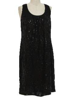 1990's Womens Wicked 90s Beaded Cocktail Dress