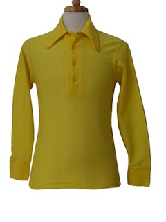 1970's Mens/Boys Mod Knit Shirt