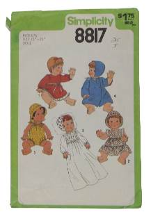 1970's Craft Doll Wardrobe Pattern