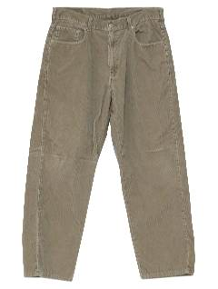 1990's Mens Wicked 90s Baggy Corduroy Jeans-cut Pants