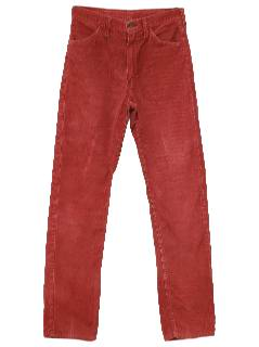 1980's Womens Totally 80s Corduroy Jeans-cut Pants