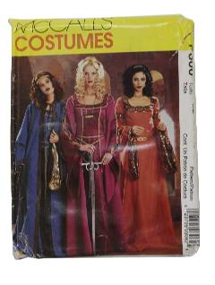 1990's Womens Renfair Costume Pattern