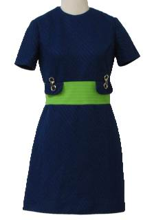 1970's Womens Mini Mod Knit Dress