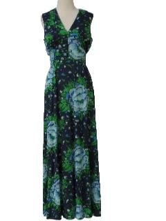 1970's Womens Summer Maxi Dress
