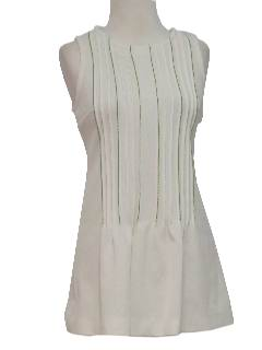 1970's Womens Mod Knit Mini Tennis Dress