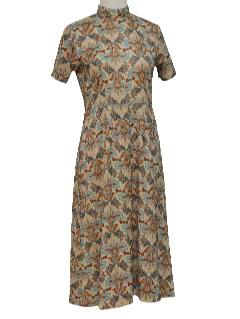 1970's Womens Mod Maxi Dress