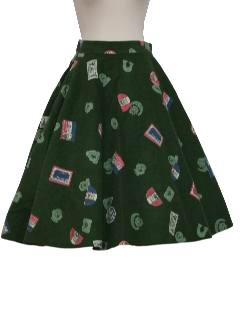 1950's Womens Mod Circle Skirt