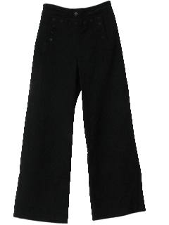 1960's Mens Navy Wool Bellbottom Pants
