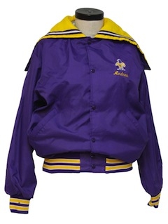1980's Womens Baseball Style Lettermans Jacket