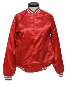 1980's Womens Baseball Style Cheerleader Jacket