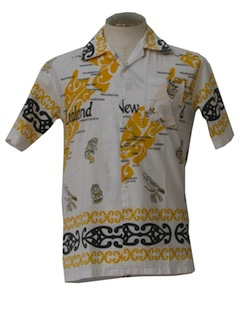 1970's Mens Hawaiian Style Resort Shirt