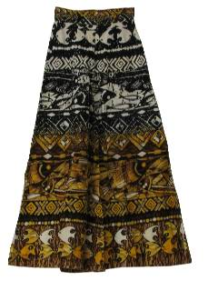 1970's Womens Palazzo Bellbottom Hippie Pants
