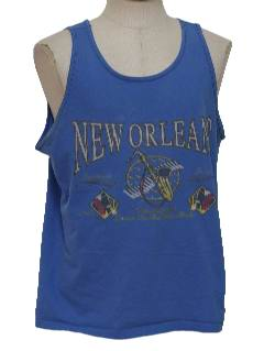 1980's Mens Totally 80s Muscle Tank Top Travel T-Shirt