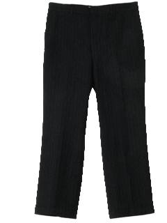 1960's Mens Mod Pinstriped Slacks Pants