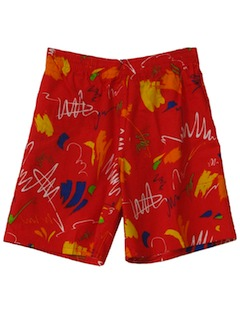 1980's Unisex Totally 80s Board Shorts