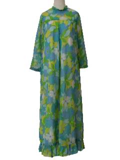 1960's Womens Hawaiian Muu-Muu Style Dress