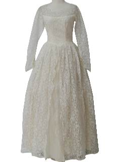 1960's Womens Wedding Dress