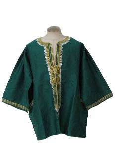 1980's Mens Hippie Dashiki Style Shirt
