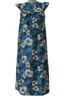 1970's Womens Hawaiian Maxi Dress