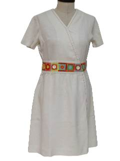 1960's Womens Mod Wrap Dress