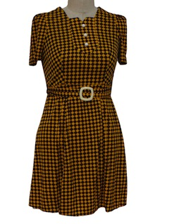 1970's Womens Mod Mini Dress