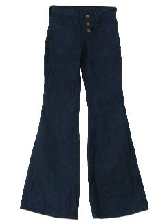 1970's Womens Elephant Bells Bellbottom Jeans Pants
