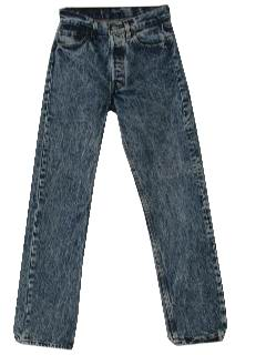 1980's Mens Totally 80s Acid Washed Levis Jeans Pants