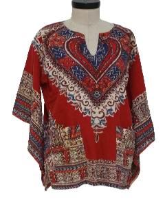 1970's Unisex Dashiki Hippie Shirt