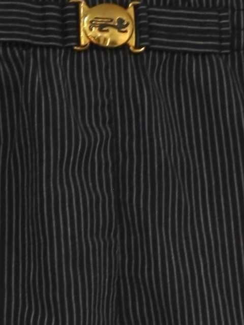 60ad514883f9b 50's Vintage Swimsuit/Swimwear: 50s -McGregor- Mens black and off white  tight vertical pinstripe print elastic waist new look swim trunks with  front gold ...