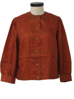 1960's Womens Mod Polka Dot Shirt