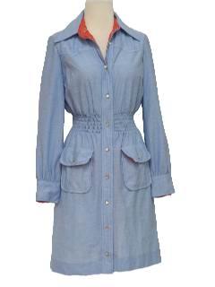1970's Womens Western Style Dress