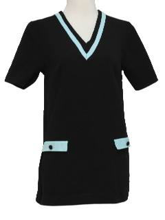 1960's Womens Mod Knit Micro Mini Dress