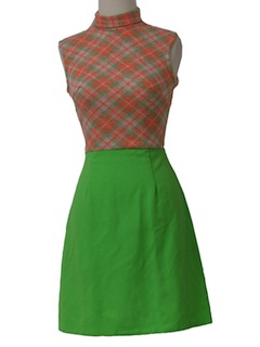 1960's Womens/Girls Knit Dress