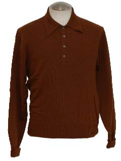 1970's Mens Mod-Knit Shirt