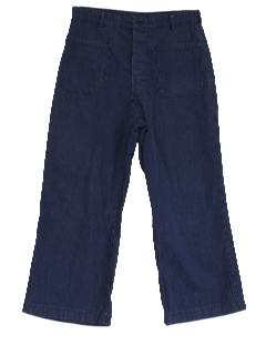 1970's Mens Wide Leg Jeans Pants