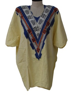 1980's Womens Totally 80s Ethnic Style Shirt
