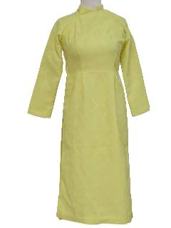 1960's Womens Mod Cheongsam Dress