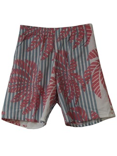1980's Mens Totally 80s Hawaiian Board Shorts