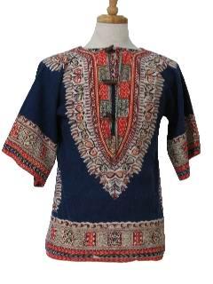 1960's Unisex Dashiki Shirt