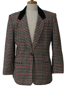 1980's Womens Totally 80s Blazer Style Sport Coat Jacket