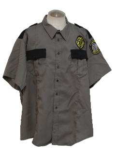 1990's Mens Wicked 90s Grunge Work Shirt