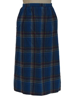 1980's Womens Pendleton Wool Skirt