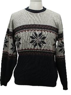 1980's Mens Classic Ugly Christmas Ski Sweater